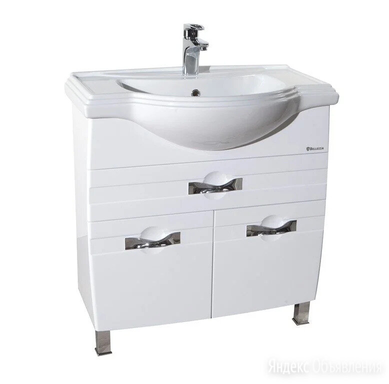 Тумба с раковиной напольная в ванную комнату Абрис 80 белая по цене 21306₽ - Тумбы, фото 0