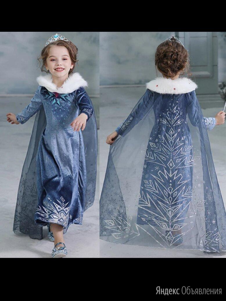 """Платье принцессы Эльзы """"Олаф и холодное приключение"""" на рост 98-122см по цене 1400₽ - Платья и сарафаны, фото 0"""