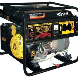 Электрогенераторы и станции - Портативный бензогенератор HUTER DY6500LX, 0