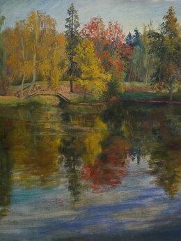 """Картины, постеры, гобелены, панно - Картина маслом """"Осень в Абрамцево"""", 0"""
