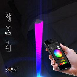 Торшеры и напольные светильники - Торшер RGB цветной Wi-Fi, 0