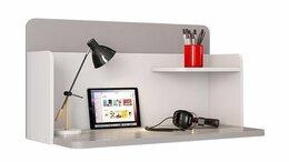 Компьютерные и письменные столы - Стол навесной Polini kids Mirum, серый-белый, 0