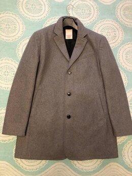 Пальто - 52 размер 185 рост Esprit серое пальто шерсть, 0