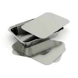 Посуда для выпечки и запекания - Алюминиевая форма прямоугольная объем 900мл L-край 50 шт, 0
