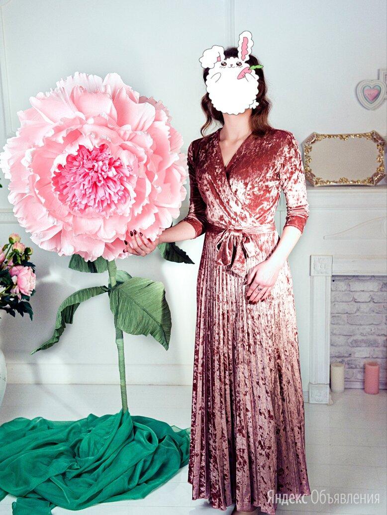 Новое Длинное Бархатное Платье с Юбкой Плиссе (42) по цене 1999₽ - Платья, фото 0