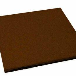 Садовые дорожки и покрытия - Резиновая плитка EcoStep 500х500х16 мм коричневая, 0