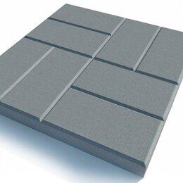Тротуарная плитка, бордюр - Тротуарная плитка 400*400*50 8 кирпичей серая, 0