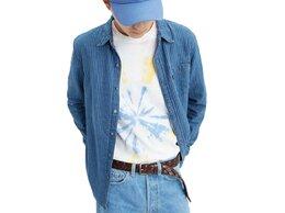 Рубашки - Рубашка Левис хлопковая синяя в полоску размер…, 0