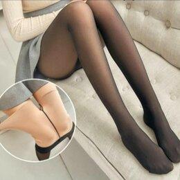 Колготки и носки - Колготки утеплённые с эффектом тонких капроновых колготок, 0