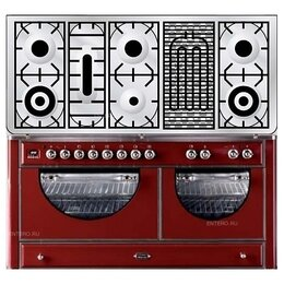 Плиты и варочные панели - Газовая плита с духовым шкафом ILVE MCA-150BD-E3, 0