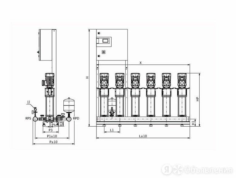 Установка Wilo CO-6 HELIX V 612/CC-EB-R по цене 1610726₽ - Насосы и комплектующие, фото 0
