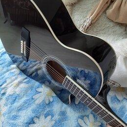 Акустические и классические гитары - Чёрная гитара полноразмерная, 0