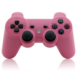 Аксессуары - Джойстик для PS3 розовый, 0