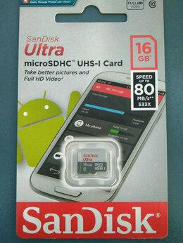 Карты памяти - Micro SD Карта SanDisk 16Gb Ultra 80MB/s без адапт, 0