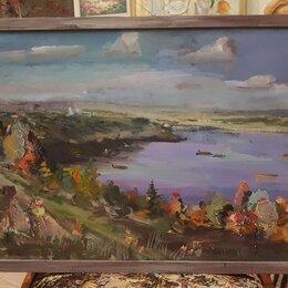 Картины, постеры, гобелены, панно - Картина маслом на оргалите пейзаж, 0