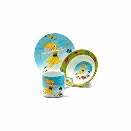 Сервизы и наборы - Набор посуды для детей(3 предмета) новый, 0