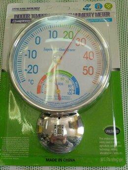 Метеостанции, термометры, барометры - Термометр-гигрометр круглый TH-101C, 0