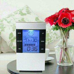Метеостанции, термометры, барометры - Термометр-гигрометр метеостанция будильник CX-506, 0