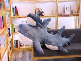 Мягкие игрушки - Мягкая игрушка Акула синяя 1,4 метра, 0