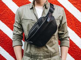 Сумки - Новая кожаная поясная сумка в трёх размерах, 0