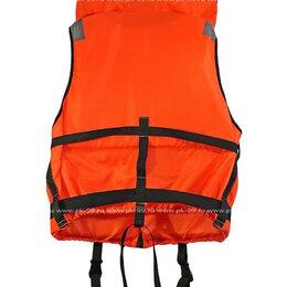 Спасательные жилеты и круги - Жилет спасательный детский со свистком и подголовником 10 кг. (оранжевый), 0