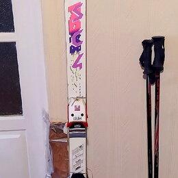 Горные лыжи - Горные лыжи Fischer sc4 sport с креплениями Marker , 0