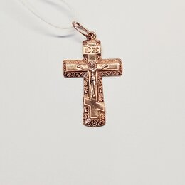 Кулоны и подвески - Крест золото 585пр, 0