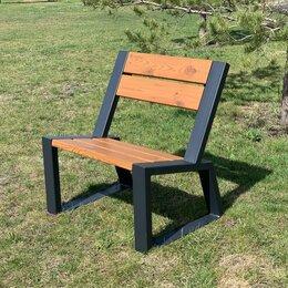 Скамейки - Кресло-скамья садово-парковое «Stone» 740 из термососны, MIROZDANIE, 0