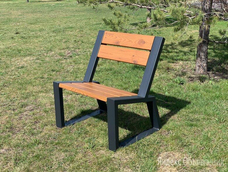 Кресло-скамья садово-парковое «Stone» 740 из термососны, MIROZDANIE по цене 13250₽ - Скамейки, фото 0