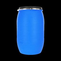 Бочки - Бочка пластиковая 127 литров с крышкой и хомутом, 0