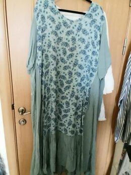 Платья - Летнее вискозное платье мятного цвета, вставка с…, 0