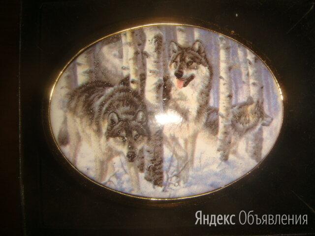 Пряжка для ремня волки серебро с позолотой по цене 22000₽ - Ремни и пояса, фото 0