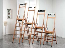 Лестницы и стремянки - Стремянка деревянная 5 ступеней на колесиках…, 0
