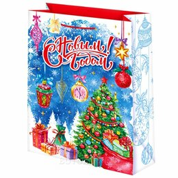 Подарочная упаковка - Пакет подарочный С новым годом! 41х56 см, 0
