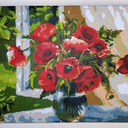 Картины, постеры, гобелены, панно - Картина Маки холст акрил 40х29,5 см, 0