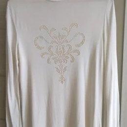 Блузки и кофточки - Водолазка с рисунком из золотистых вкраплений, 0