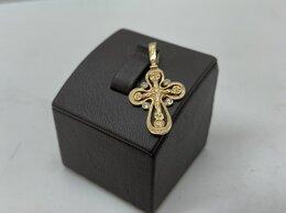 Кулоны и подвески - Золотой крест 585 пробы массой 1.7 грамма, 0