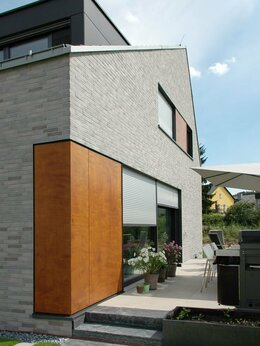 Клинкерная плитка - Система фасада с клинкерной плиткой серого цвета, 0