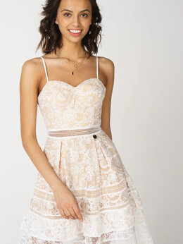 Платья - Платье с кружевами , 0