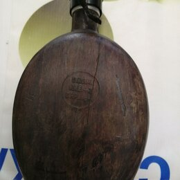 Военные вещи - Фляга кокос Африканский корпус Ромеля. Годы 1942 и 1943. Состояние на фото., 0
