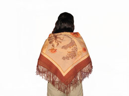 Шарфы и платки - Павлопосадский платок новый 89х89 шерсть, 0