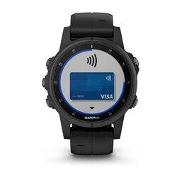 Умные часы и браслеты - Смарт Часы Garmin Fenix 5S Plus Sapphire Black /…, 0