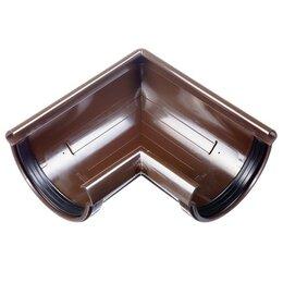 Кровля и водосток - Угол желоба 90 градусов ПВХ Docke Lux Шоколад…, 0