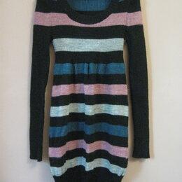Платья - Теплое полосатое платье р.42-44, 0