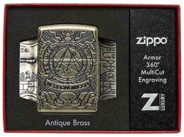 "Пепельницы и зажигалки - Зажигалка Zippo ARMOR  ""Book of the Dead"", 0"