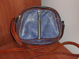 Сумки - Сумка синяя натуральная кожа кросс-боди, 0