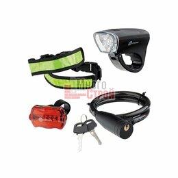 Фонари - Набор велосипедный : передний и задний фонари LED, светоотражатель и тросовый за, 0