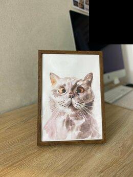 Картины, постеры, гобелены, панно - Совместный портрет кота и божьей коровки, 0