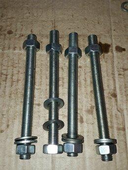 Шпильки - Шпилька М12 х 150 с гайками и шайбами, цинк., 0