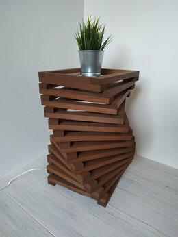 Торшеры и напольные светильники - Дизайнерская тумба - светильник из дерева Twist, 0